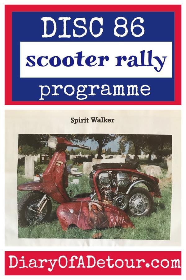 Doncaster scooter rally programme including Spirit Walker custom Lambretta scooter