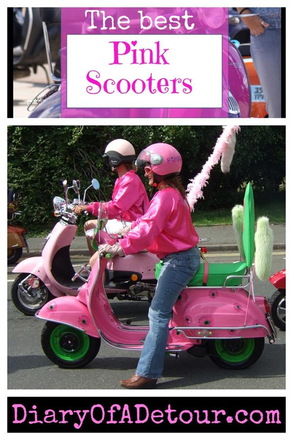 Best pink scooters including Vespas and Lambrettas