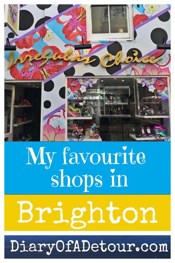 My favourite shops in Brighton including independent traders in the Lanes and North Laine