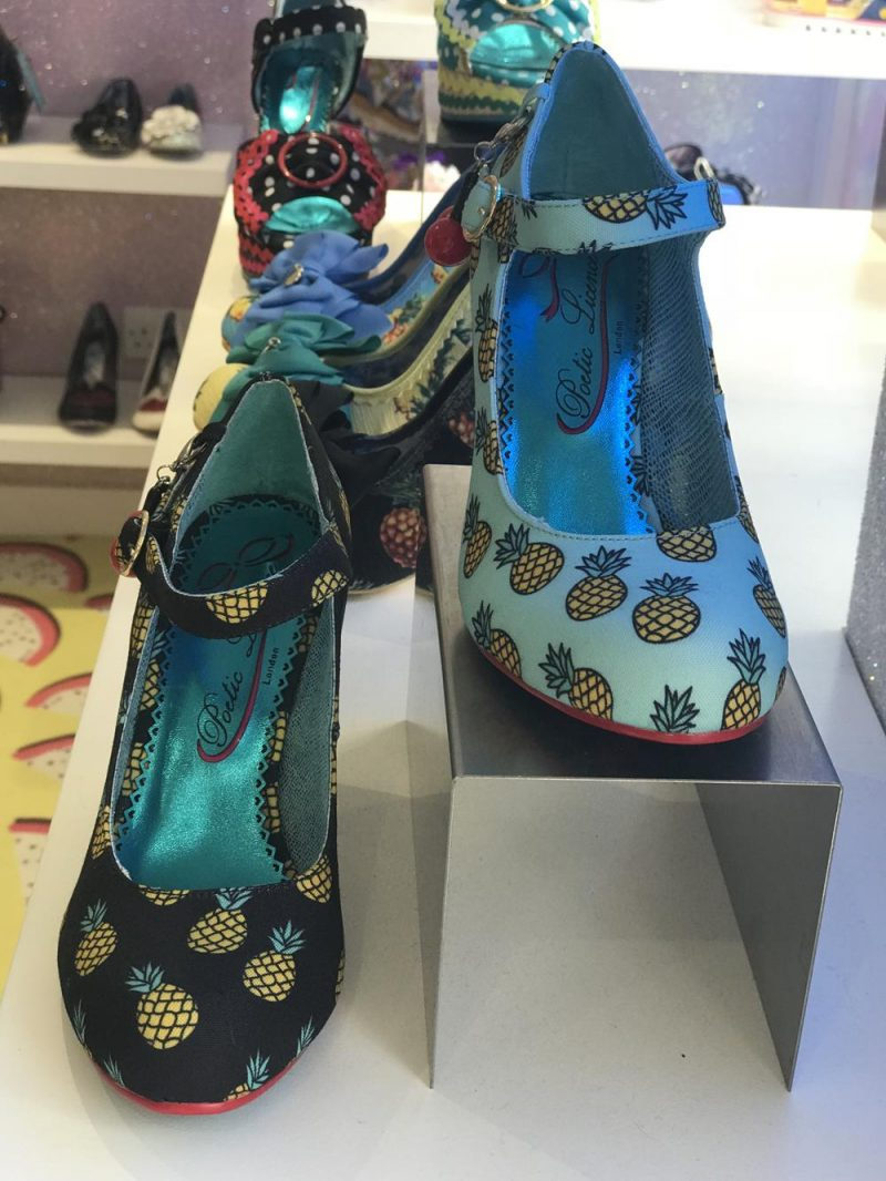 Shoes with pineapple images from Irregular Choice