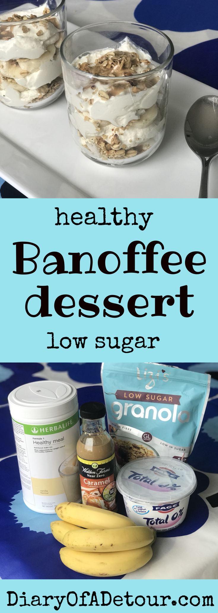 healthy banoffee dessert