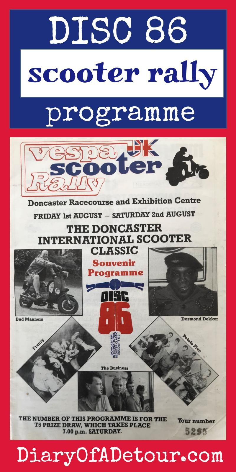 1986 Doncaster scooter rally programme