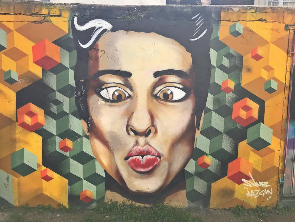 Another female image by Mazcan in Trafalgar Lane, Brighton