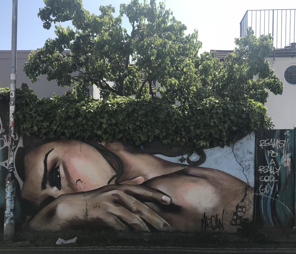 Wall mural by Mazcan in Brighton