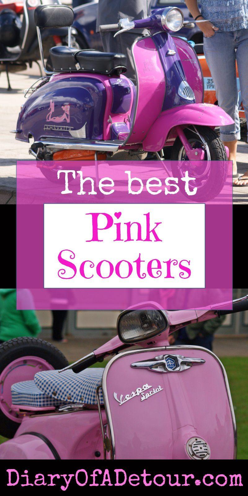 Pink Lambrettas and Vespas