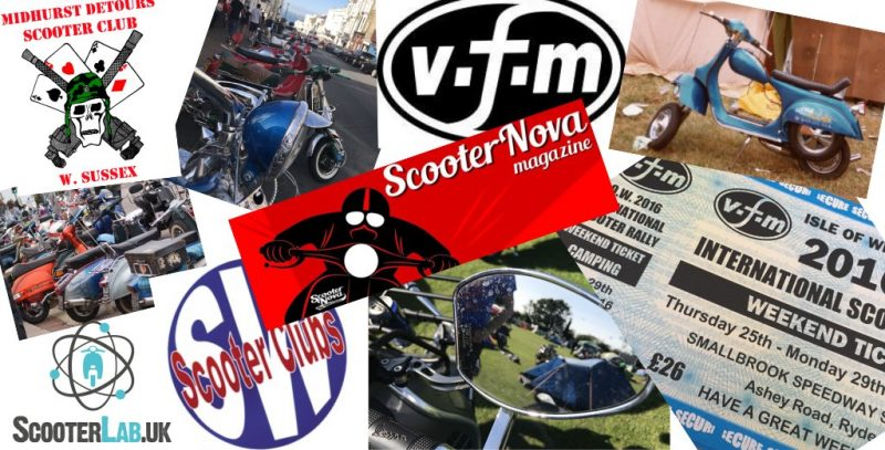 Scooter links to clubs, website links, traders and rally organisers