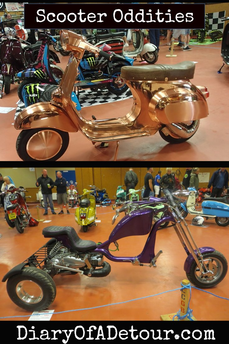 Scooter oddities featuring trikes and freaky custom scooters