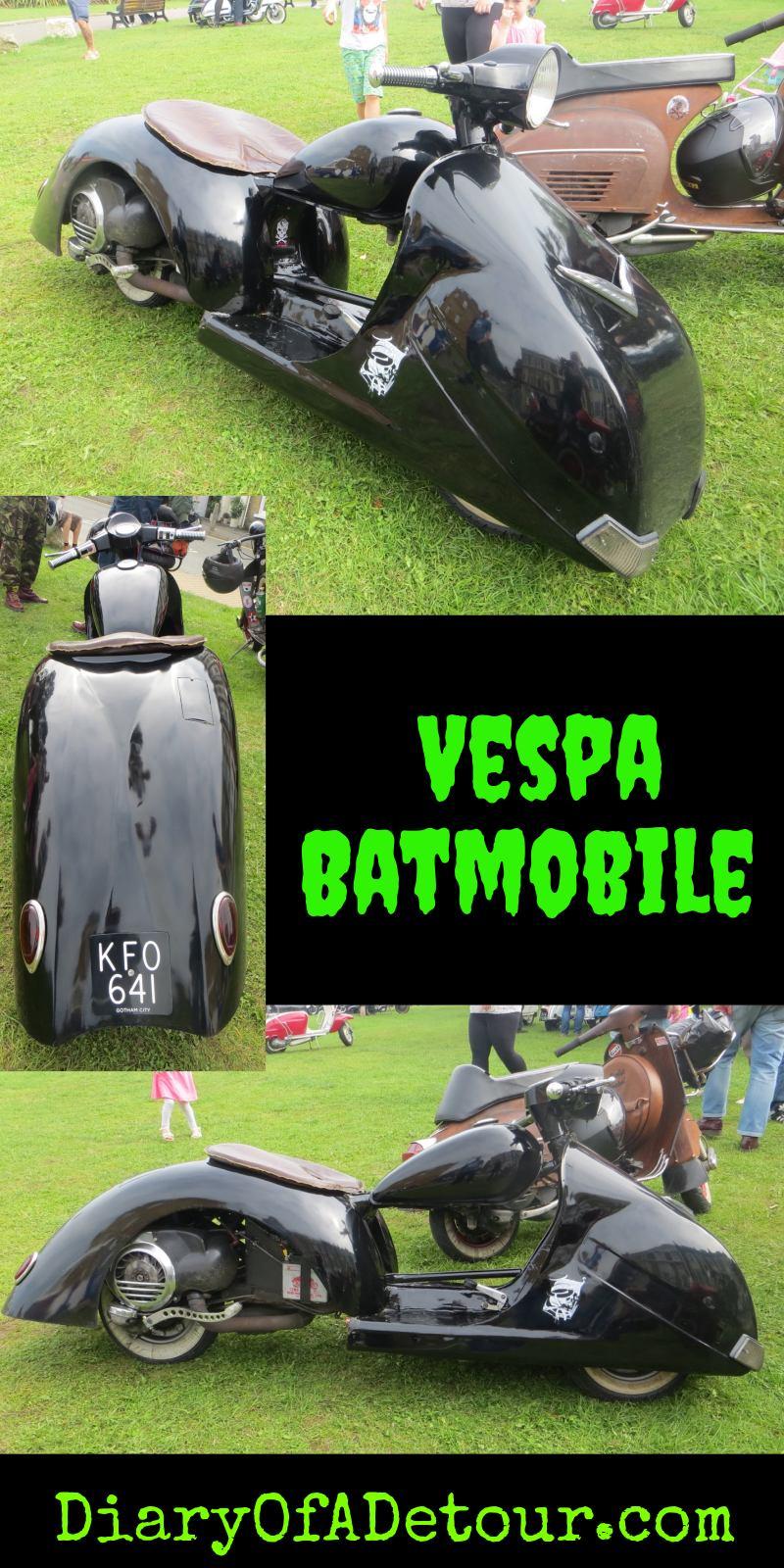 Vespa Batmobile scooter oddity