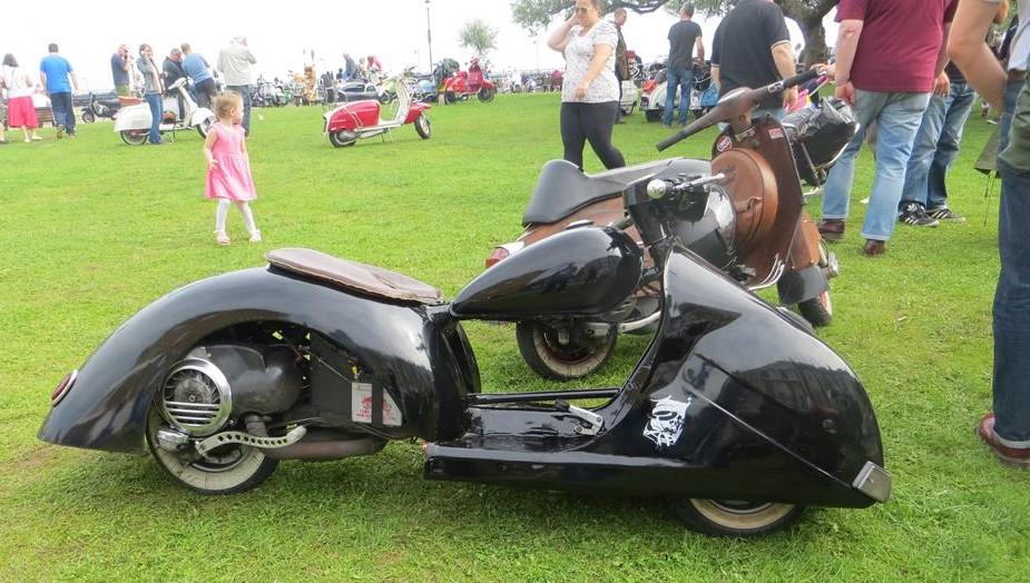 Vespa PX Batmobile custom scooter