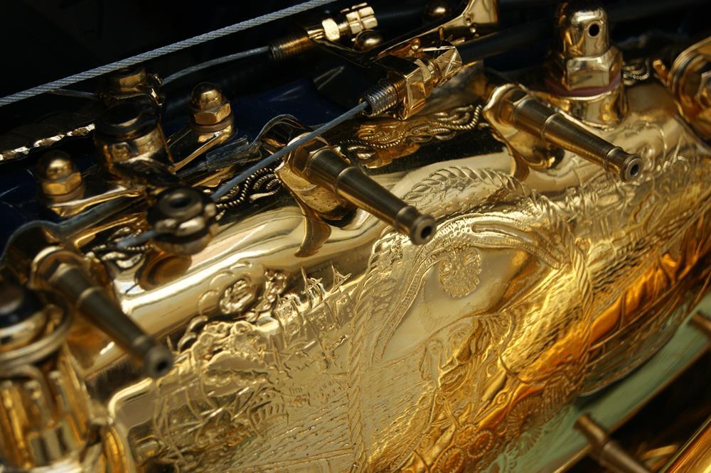 A gold plated Lambretta engine