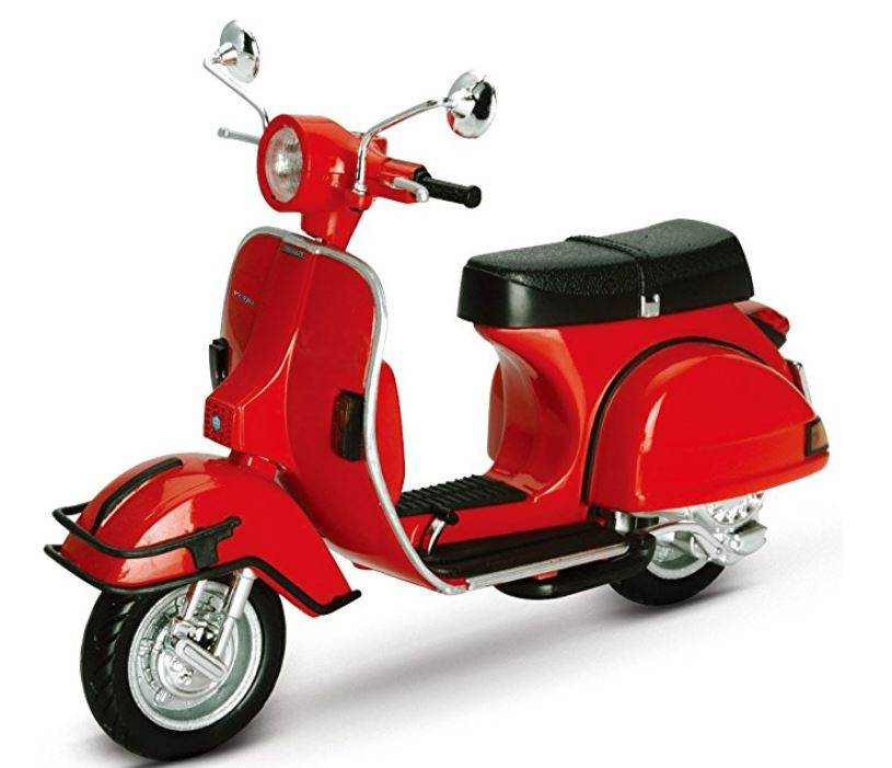 An ideal example of scooter gifts, a model PX200E in red