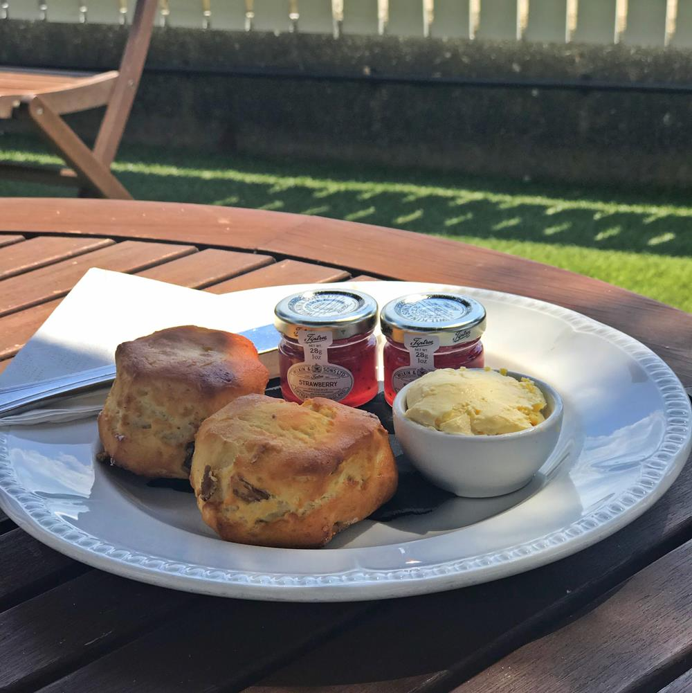 Sussex cream tea at the Beachcroft Hotel