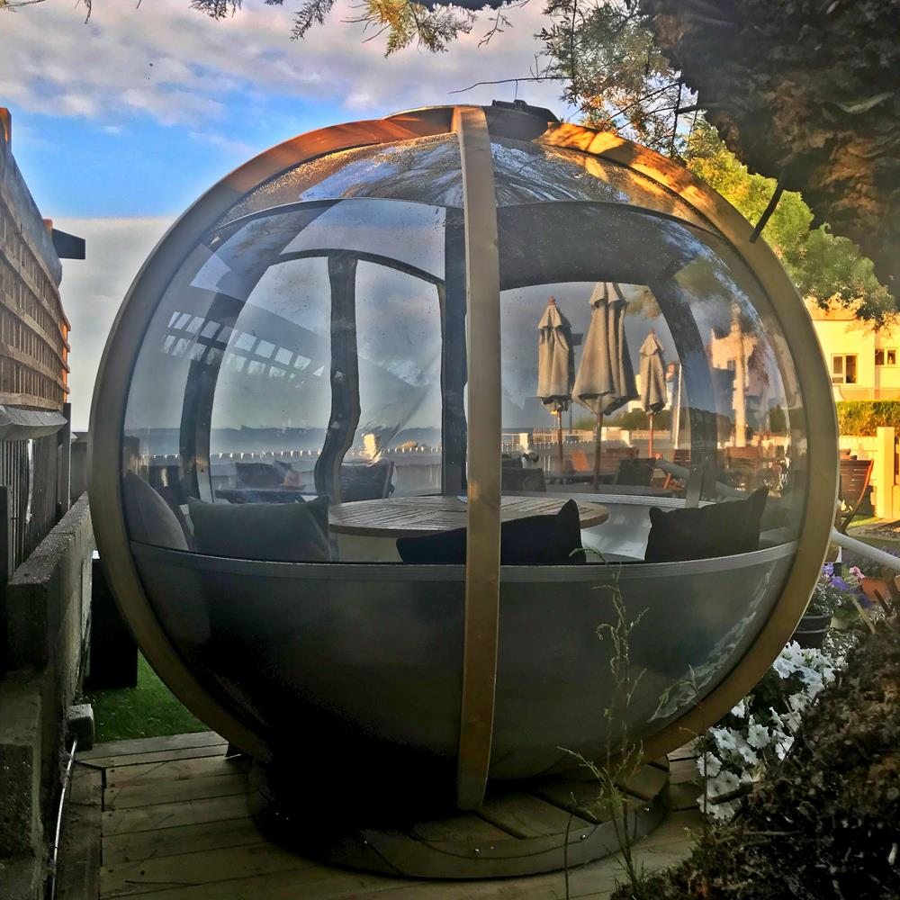The pod outside the Beachcroft Hotel in Felpham
