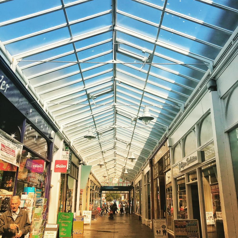 View along Bognor's arcade