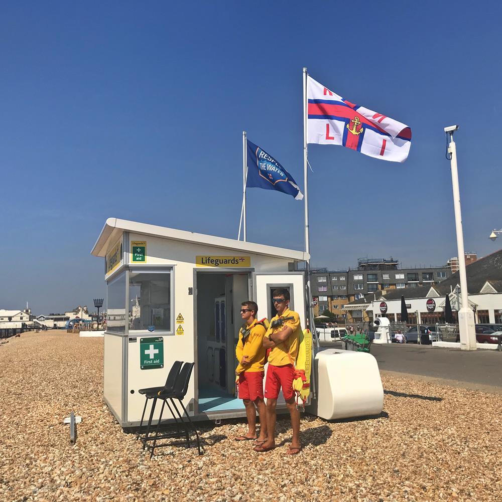 Lifeguard station on Bognor beach