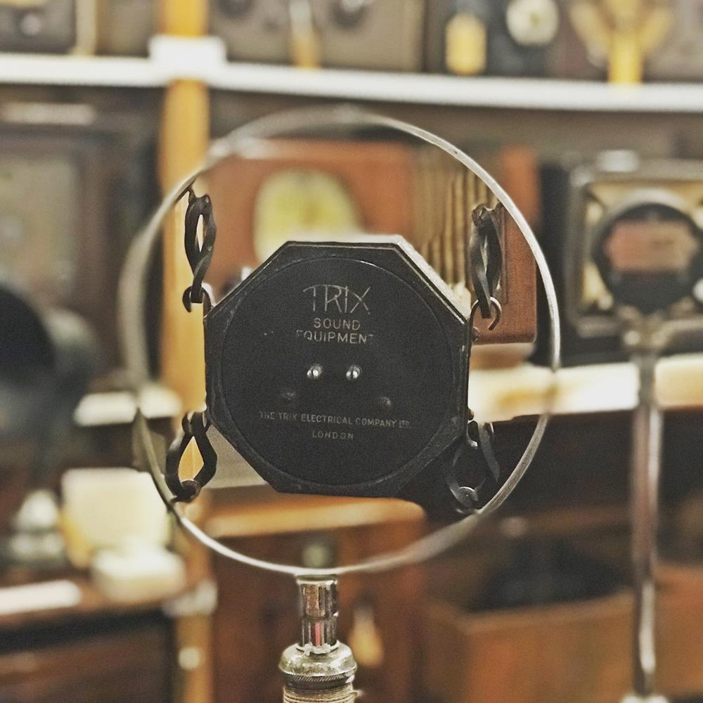 Vintage microphone in Bognor Museum