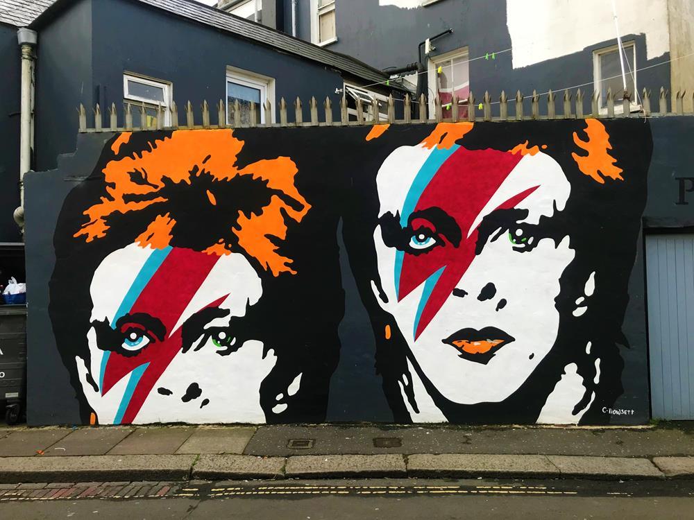One of Bognor's best Instagram sports is this David Bowie street art as Ziggy Stardust