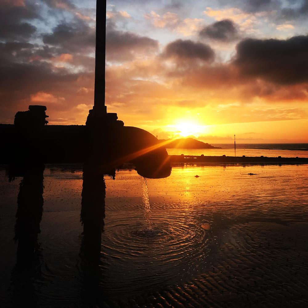 Elmer beach at sunrise