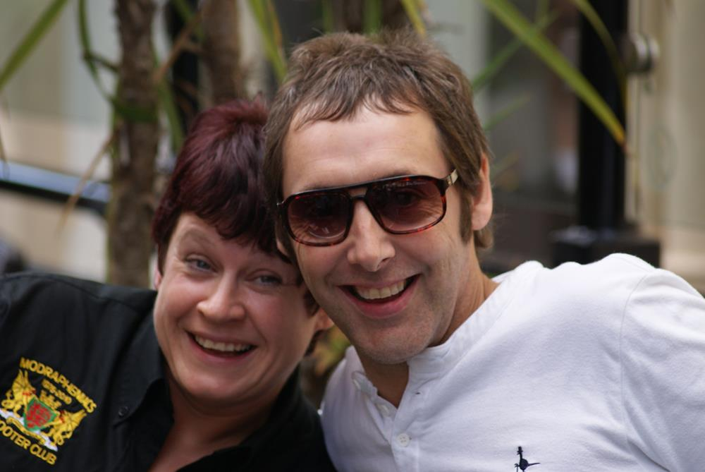 Emma Cox and Andy Vass at the Isle of Wight scooter rally
