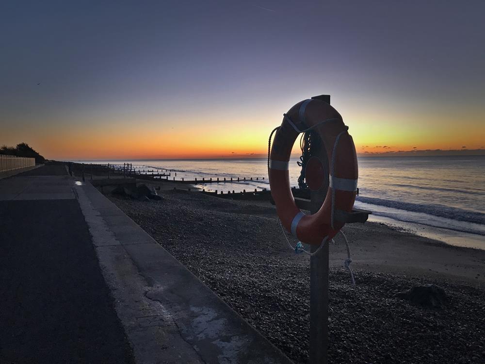 Sunrise over Felpham beach