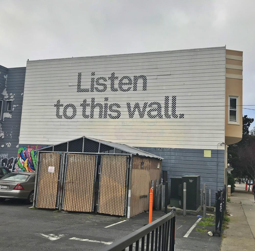 Listen To The Wall mural in the Haight Ashbury district in San Francisco
