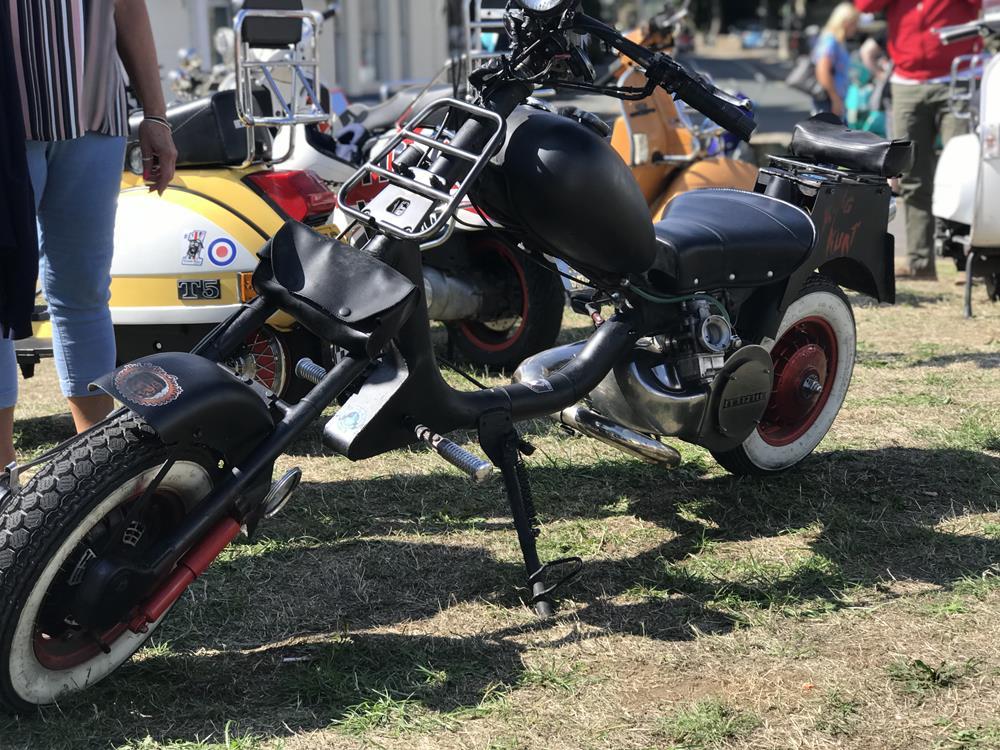 Black ratty Lambretta scooter