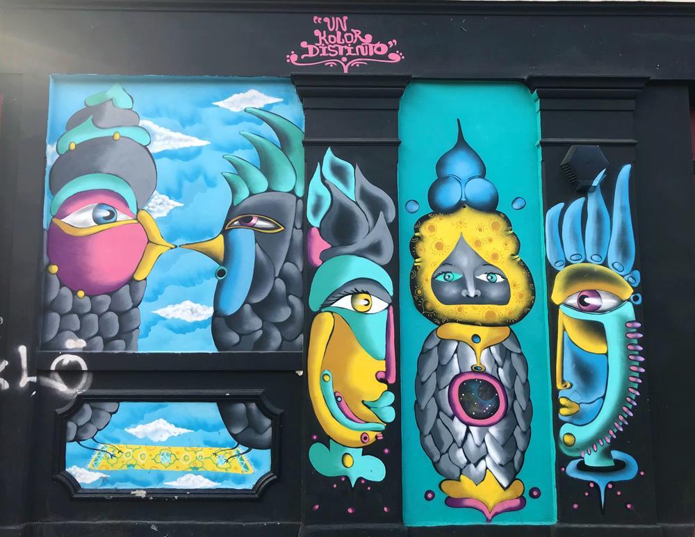 Colourful street art in Shoreditch