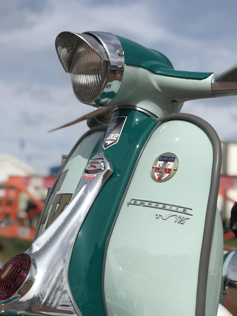 Two tone green Lambretta