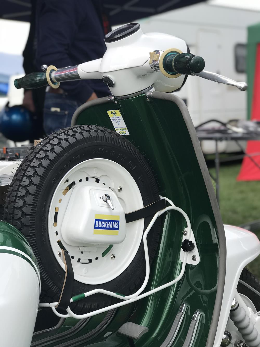 Spare wheel on K2 Customs Lambretta