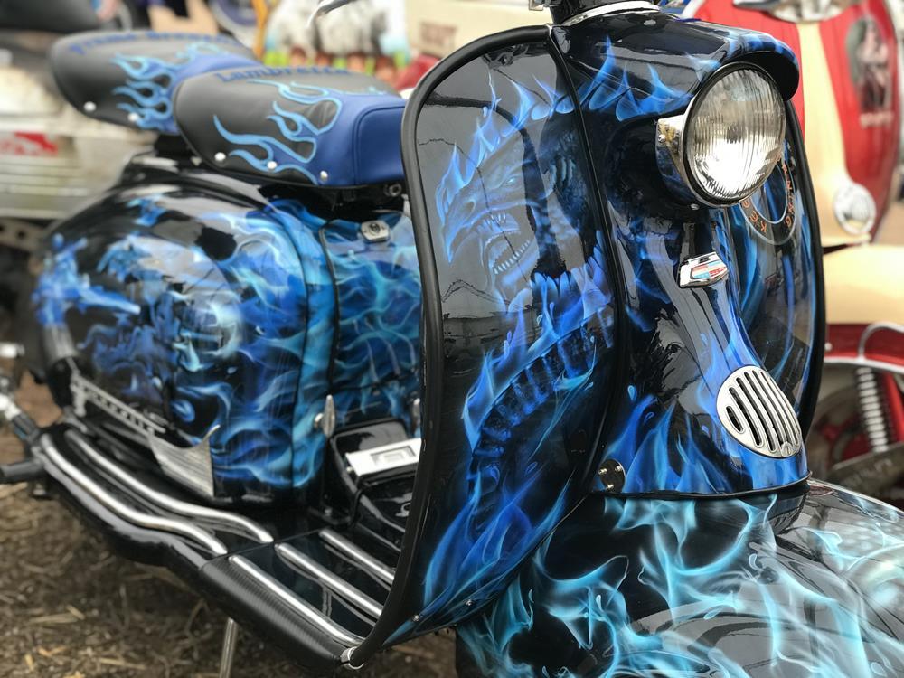 Keeps On Burning custom Lambretta