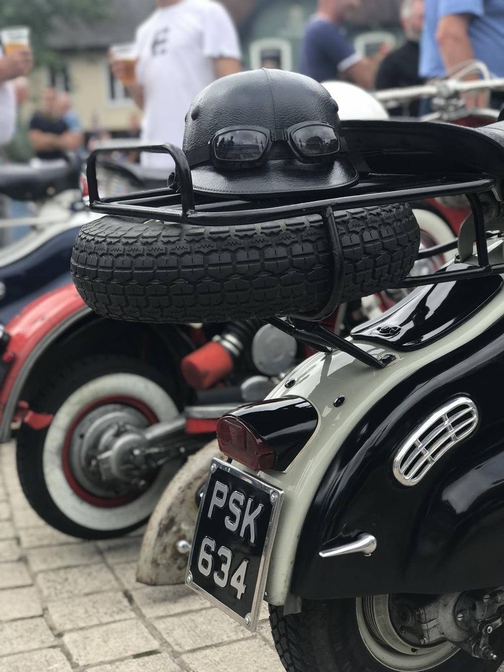 Lambretta LD with spare wheel