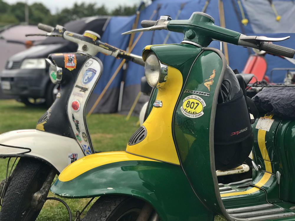 Green and yellow Series 1 Lambretta LI