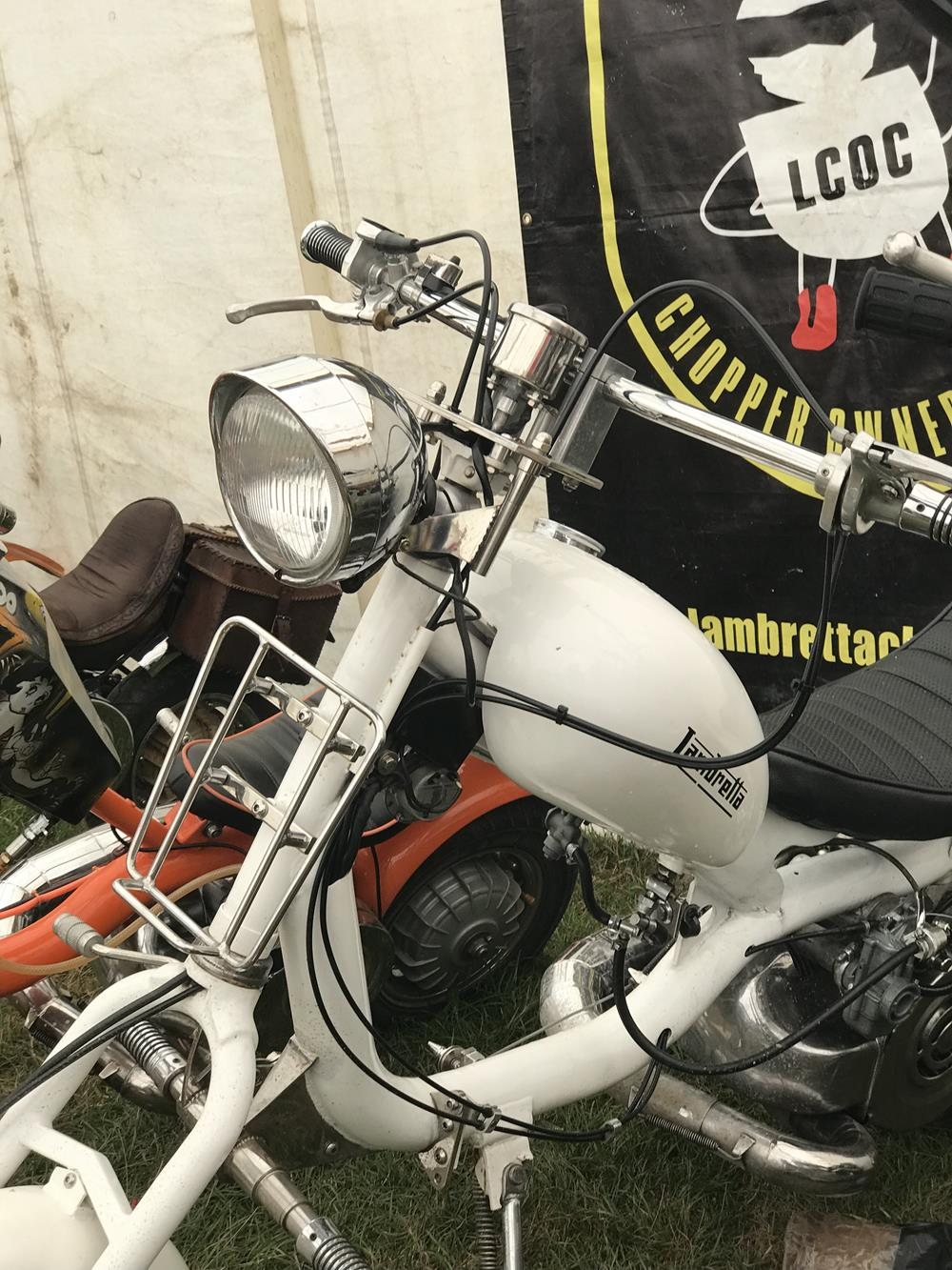 White Lambretta chopper