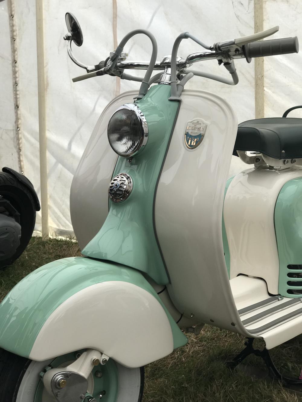 Front legshield on vintage Lambretta LD150