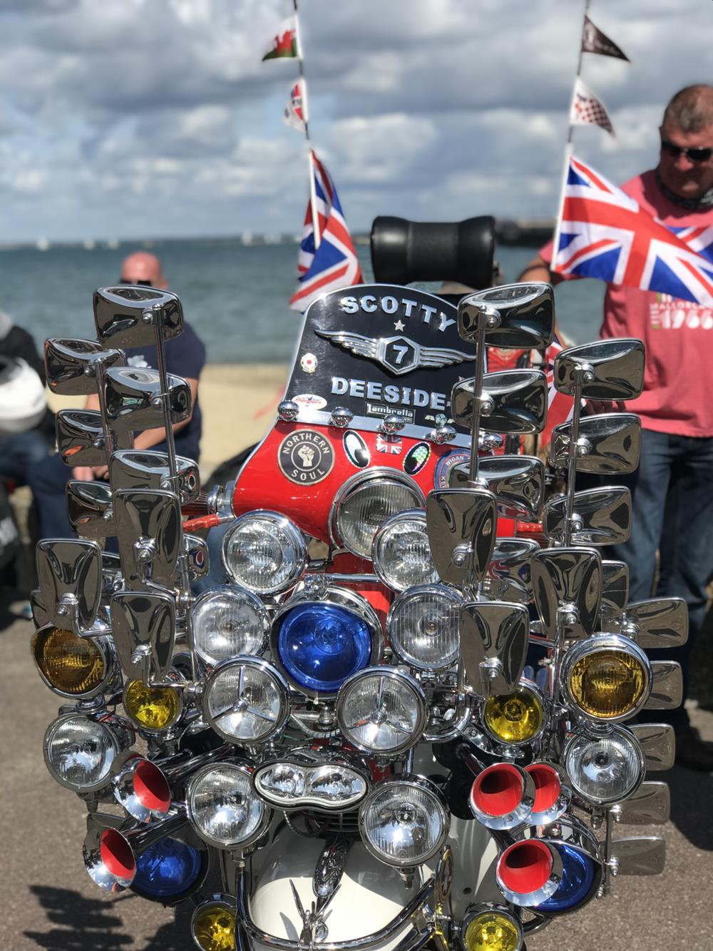 Mod scooter at the Isle of Wight scooter rally