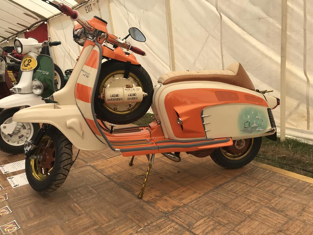 Orange and cream Lambretta