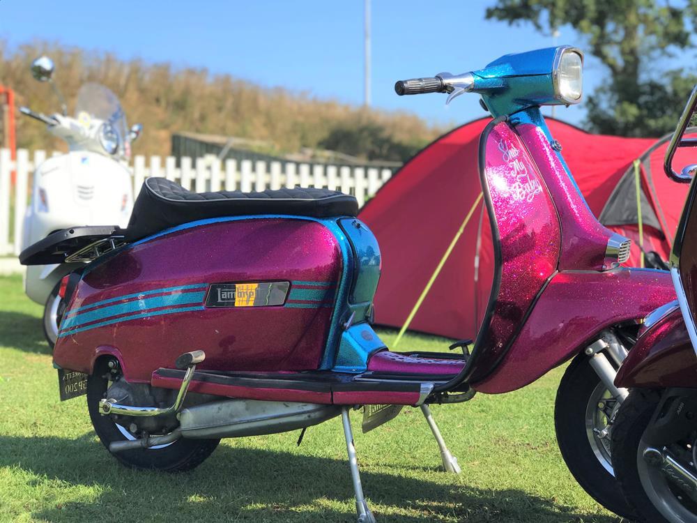 Pink metalflake Lambretta scooter