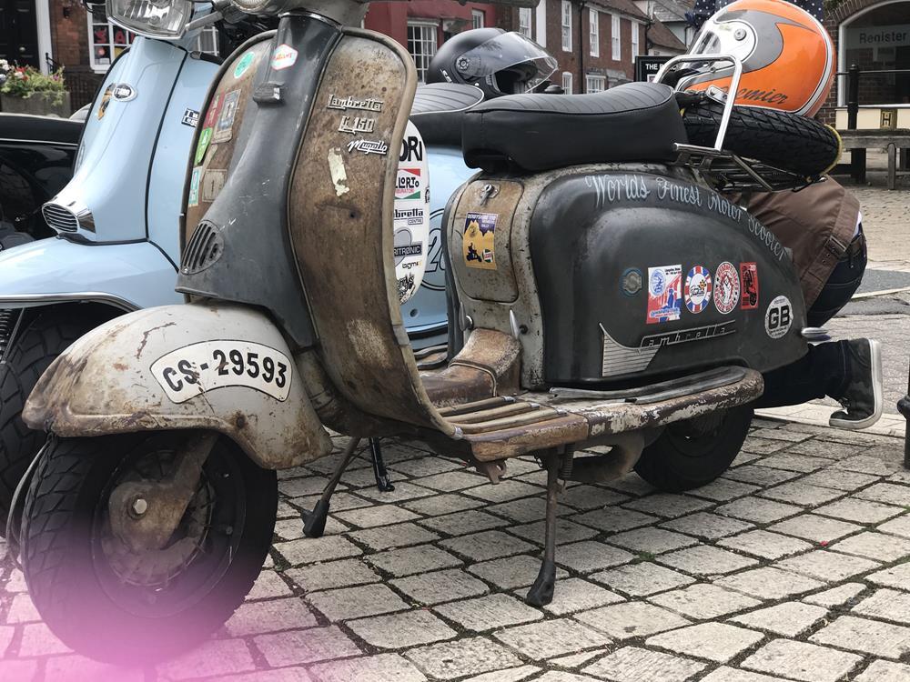 Rat rod scooter