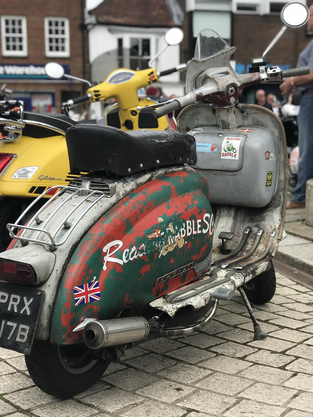 Rat rod Lambretta scooter