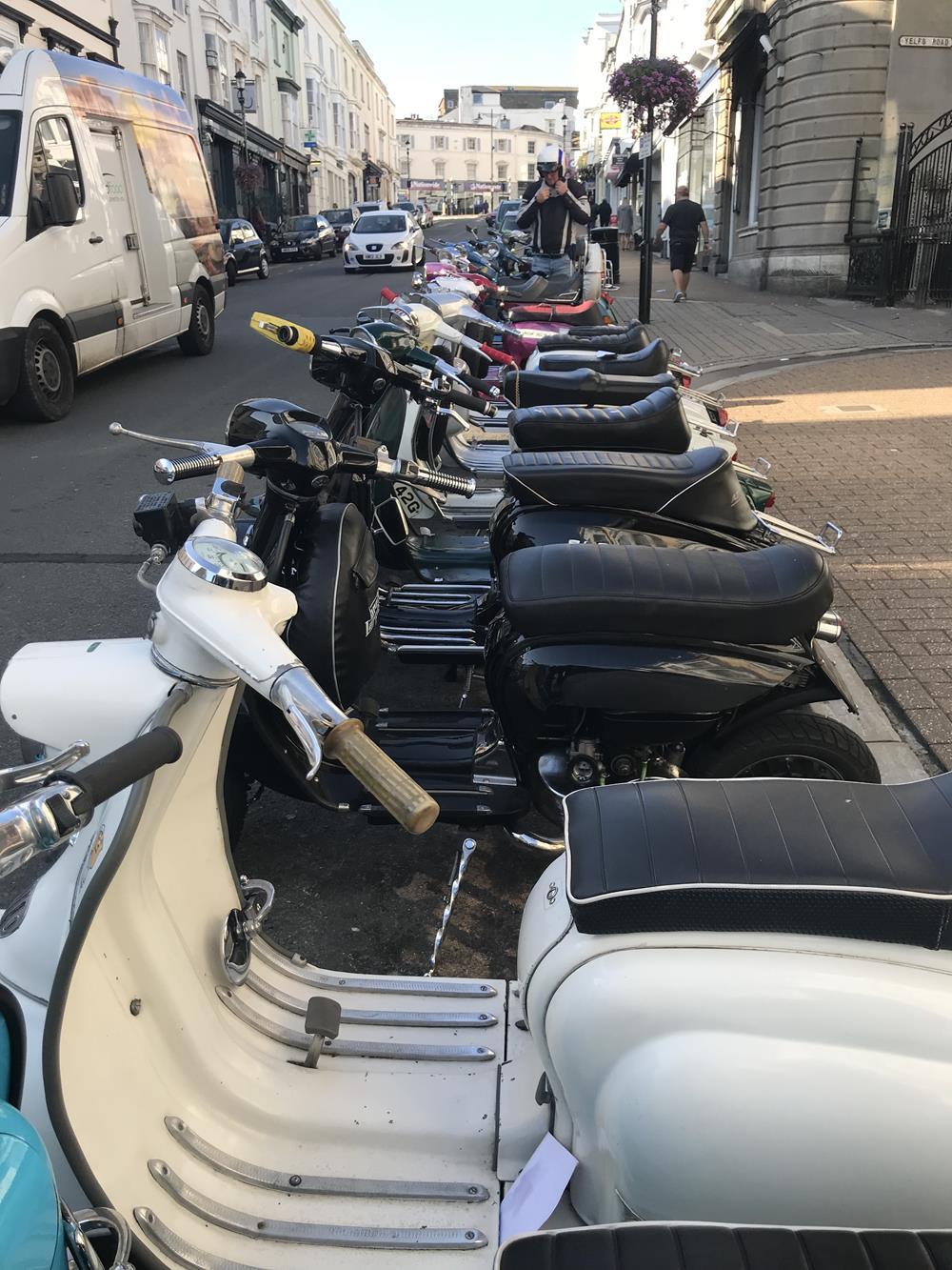 Lambrettas in Ryde