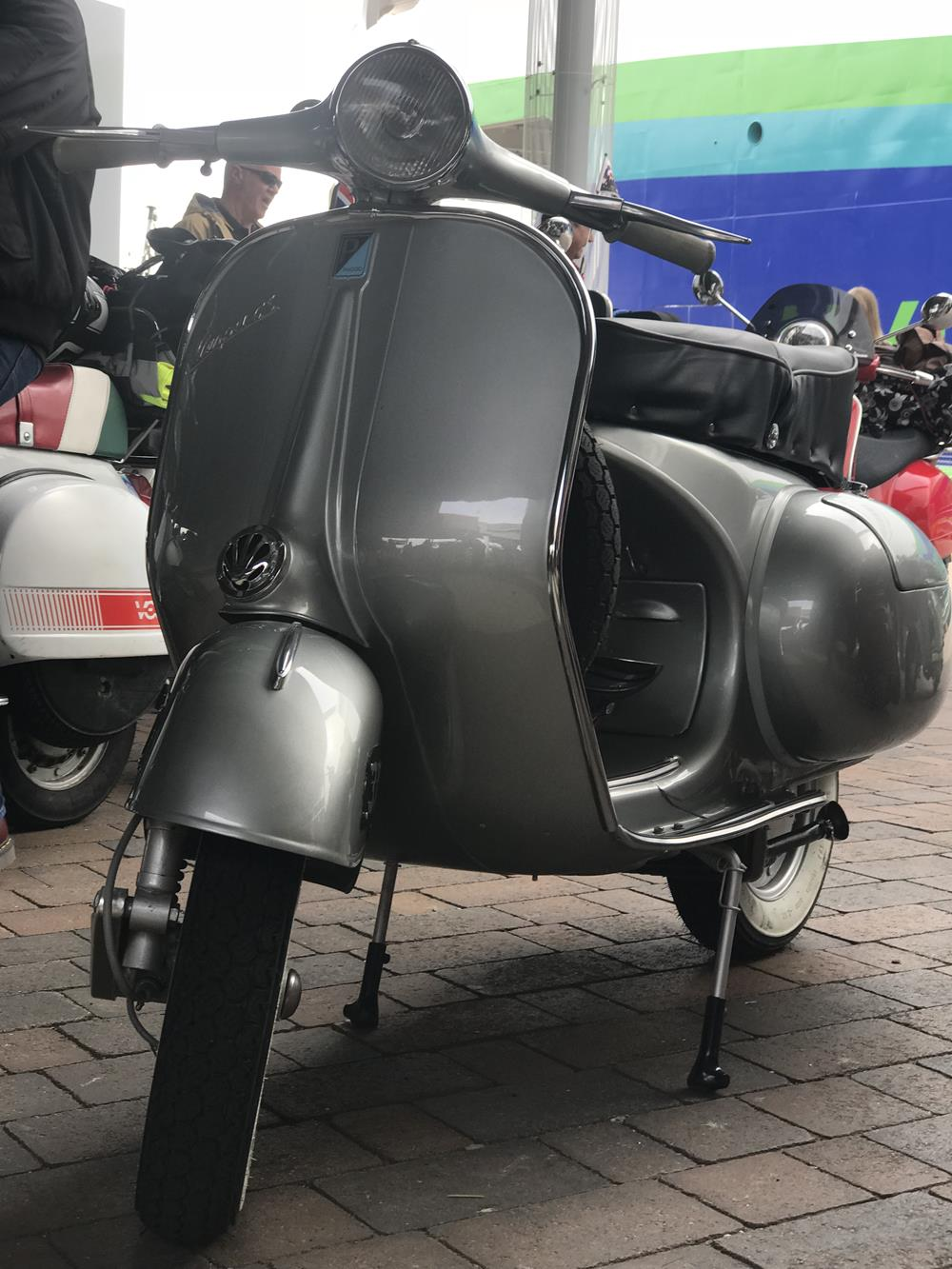Silver Vespa GS scooter