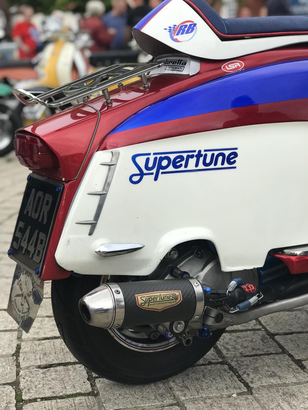 Supertune side panel on a Lambretta
