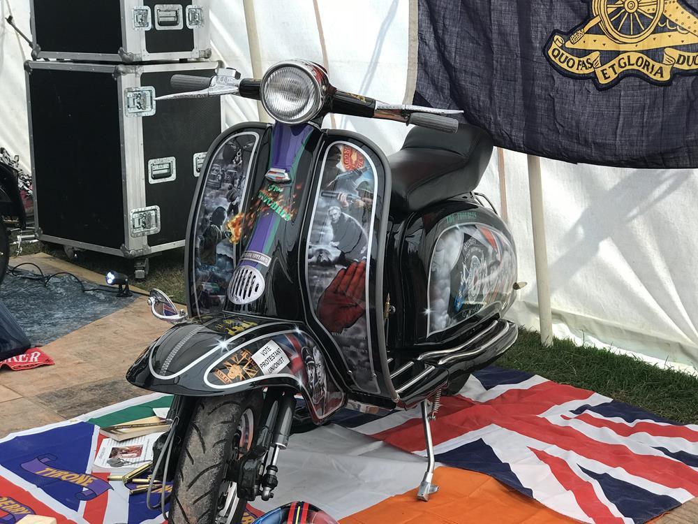 The Troubles custom Lambretta