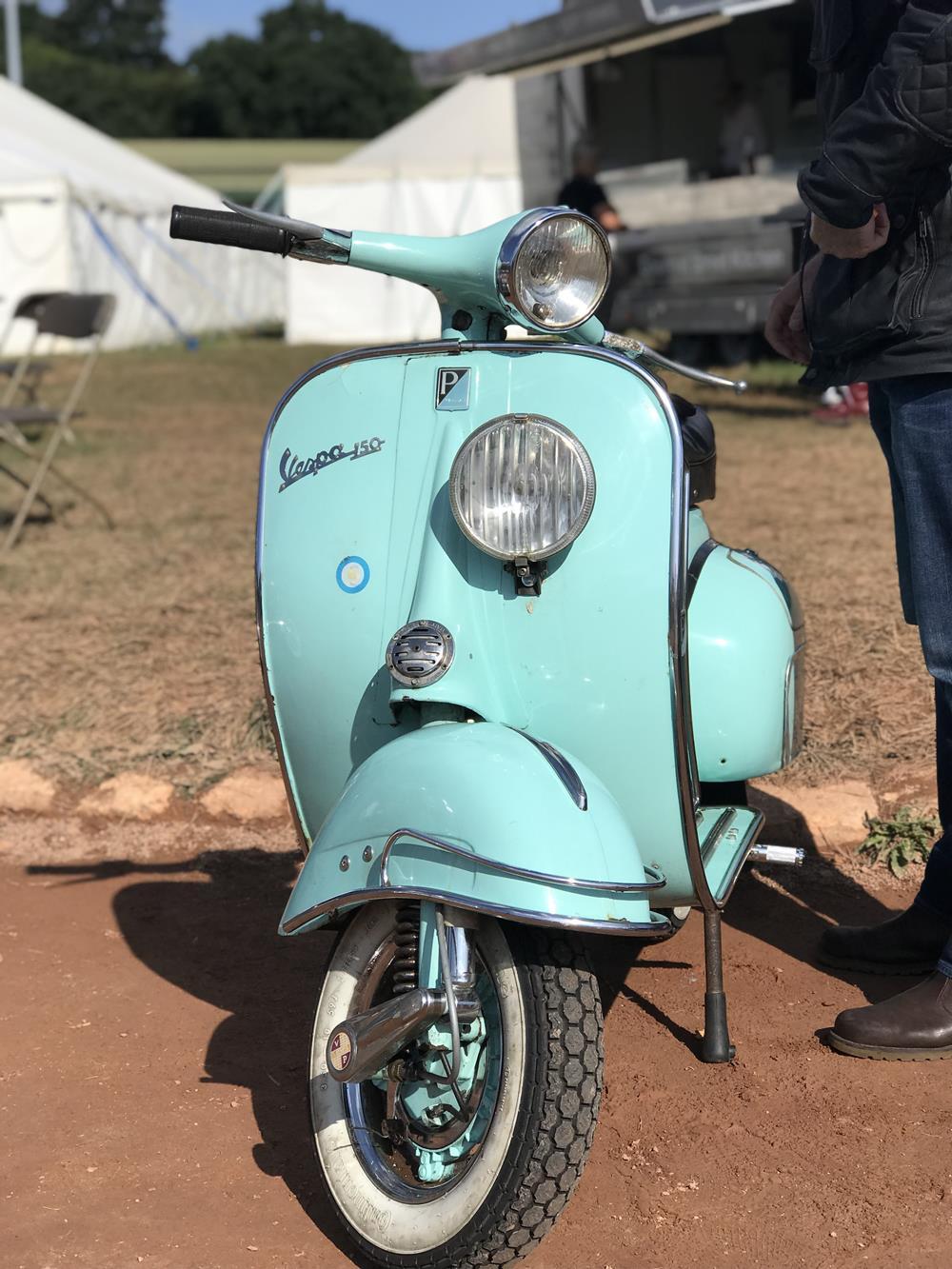 Turquoise vintage Vespa