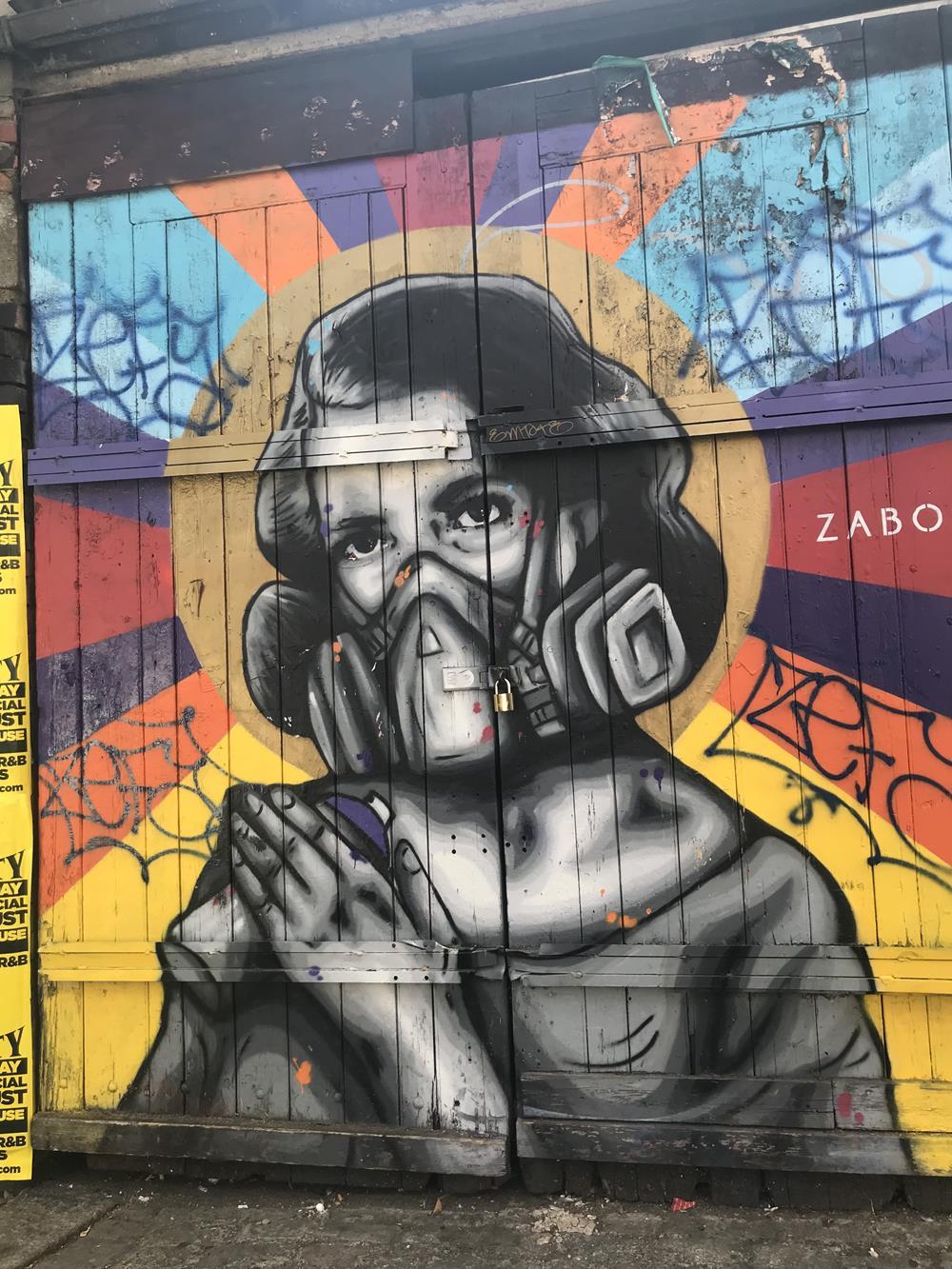 Shoreditch street art in Brick Lane