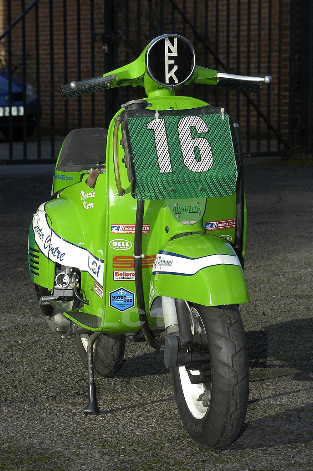 Green Vespa racer