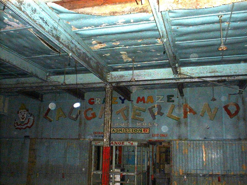 The inside of Laughterland amusement arcade on Brighton's West Pier