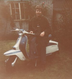 Dizzy from Midhurst Detours SC with a Lambretta TV scooter