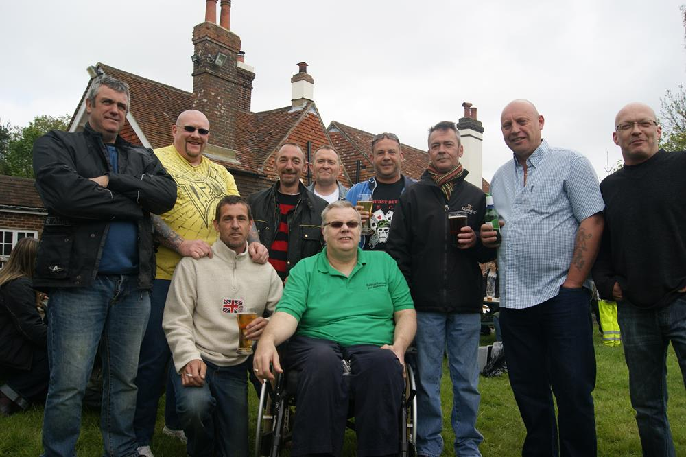 Dizzy with members of the Midhurst Detours at the Bulldog Run rideout