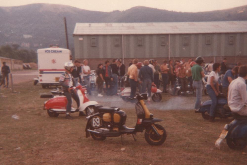 Lambrettas at the Malvern rally in 1981